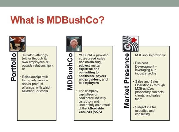 MDBushCo Overview Image